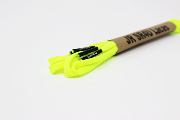 JR SR4U Laces Neon Yellow