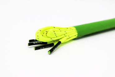 WIDE SR4U Laces Neon Yellow Reflective