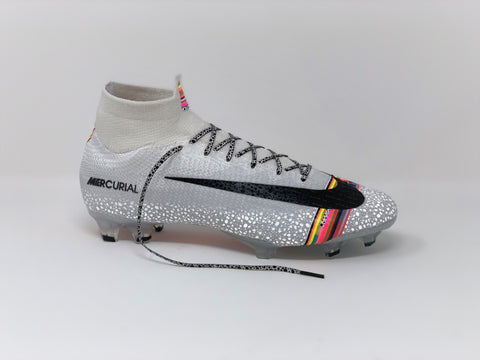 SR4U White Premium Laces on Nike Mercurial Superfly 6 Elite Level Up Pack