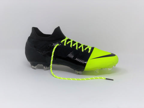 SR4U Reflective Neon Yellow Laces on Nike GS360