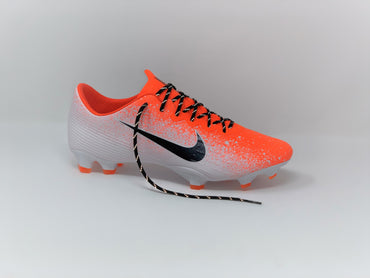 SR4U Reflective Black Laces on Nike Mercurial Vapor 12 Elite Euphoria Pack