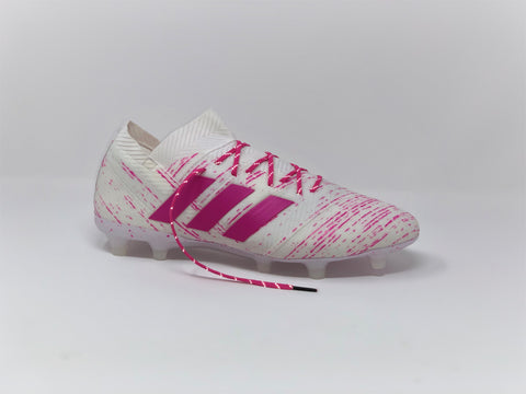SR4U Reflective Pink Berry Laces on adidas Nemeziz 18.1 Virtuso Pack