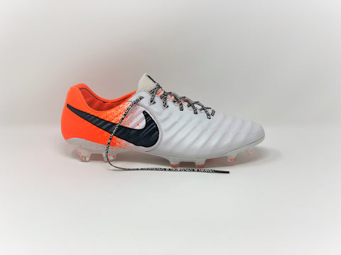 SR4U White Premium Laces on Nike Tiempo Legend 7 Elite Euphoria Pack