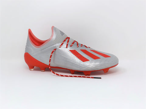 SR4U Reflective Red Laces on adidas X 19.1 302 Redirect Pack