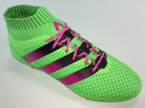 JR SR4U Laces Neon Pink Reflective