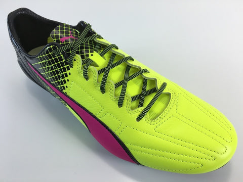 SR4U Laces Neon Yellow/Black Speckled Premium