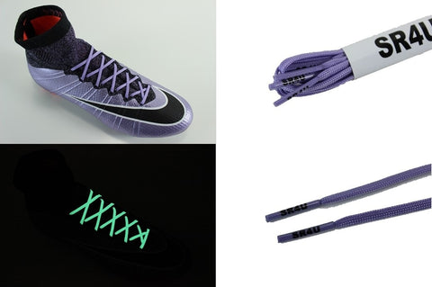 SR4U Laces Purple Glow in the Dark