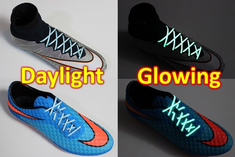 SR4U Laces Blue Glow in the Dark
