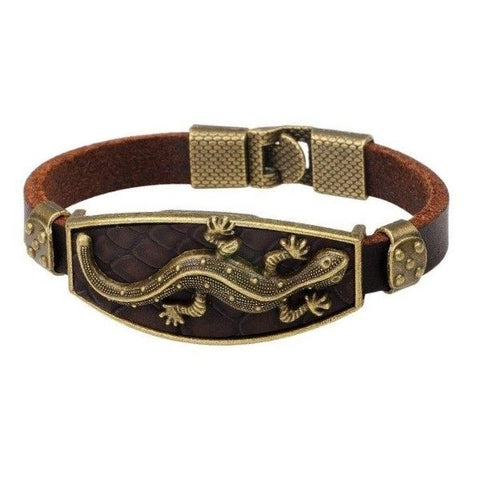 Bracelet Animal Gecko Cuir