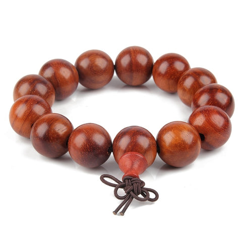 bracelet bois de santal orange