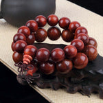 bracelets tibetain bois de santal orange