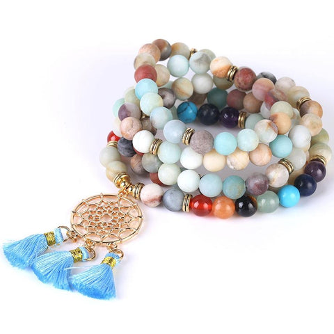 Bracelet Mala Amazonite Attrape-Reves
