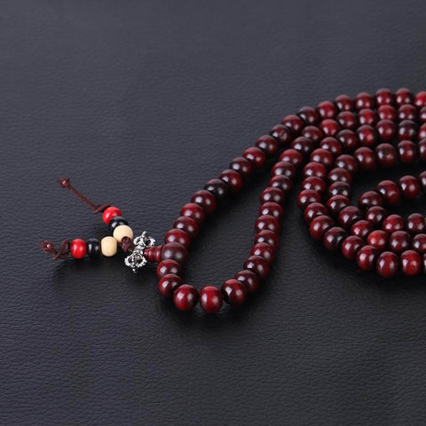 mala tibétain rouge vajra