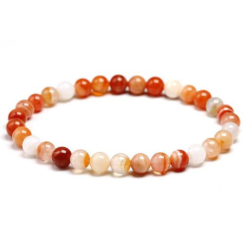 Bracelet agate botswana orange