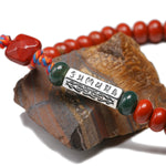 Bracelet Tibetain Jaspe Rouge Mantra six mots