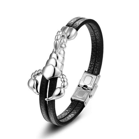 Bracelet en Cuir Homme Scorpion Royal