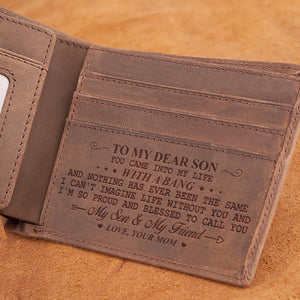 Mom To Son - So Proud And Blessed - Bifold Wallet