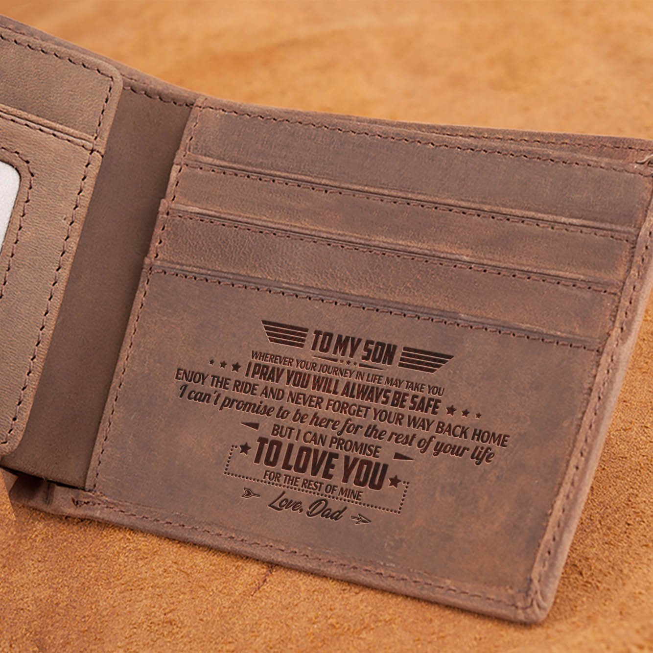 Dad To Son - Enjoy The Ride - Bifold Wallet