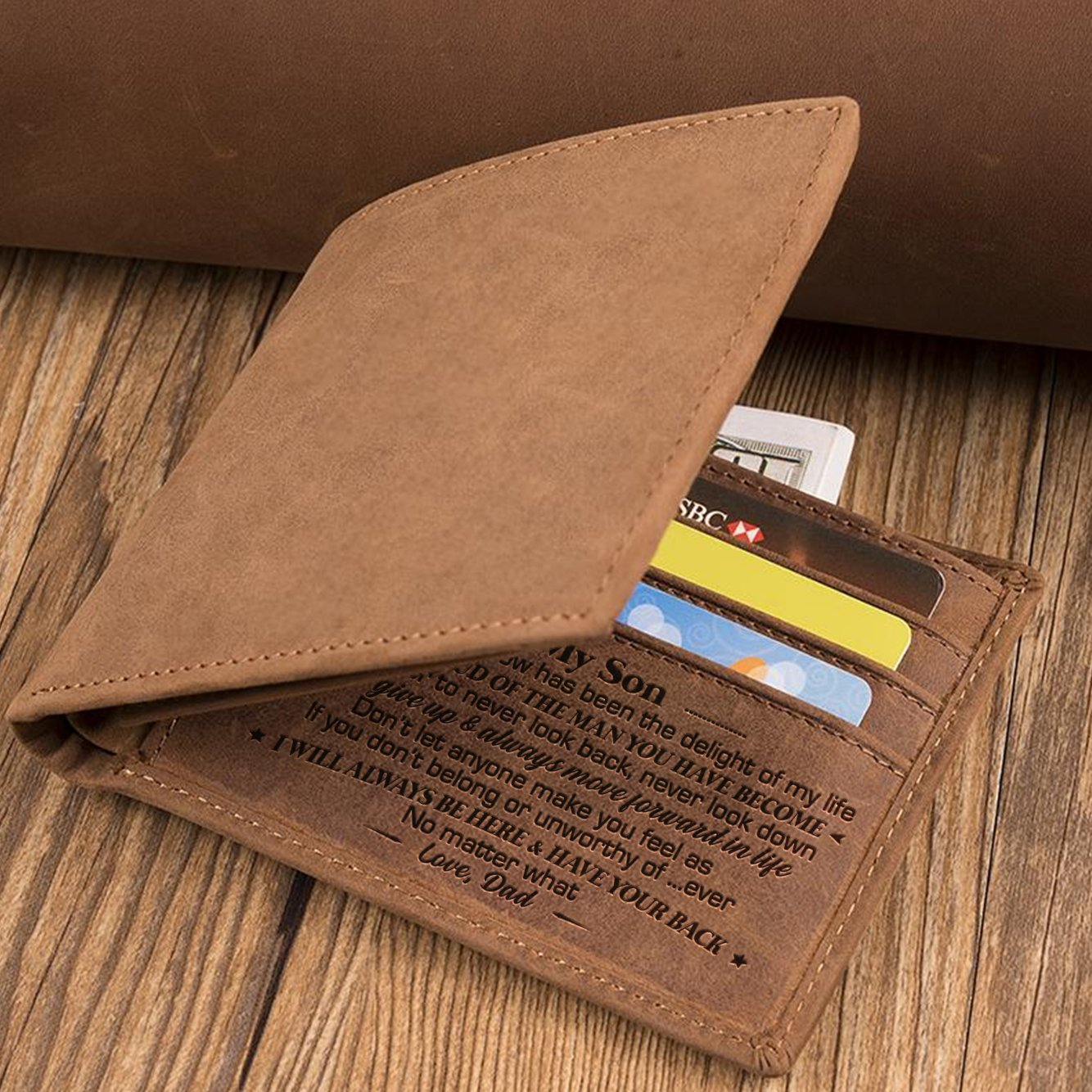 Dad To Son - I Will Always Have Your Back - Bifold Wallet
