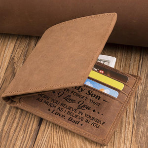 Dad To Son - Never Forget That I Love You - Bifold Wallet
