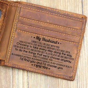 To My Husband - I'd Find You And I'd Choose You - Bifold Wallet