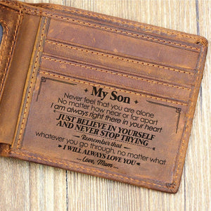 Mum To Son - I Will Always Love You - Bifold Wallet