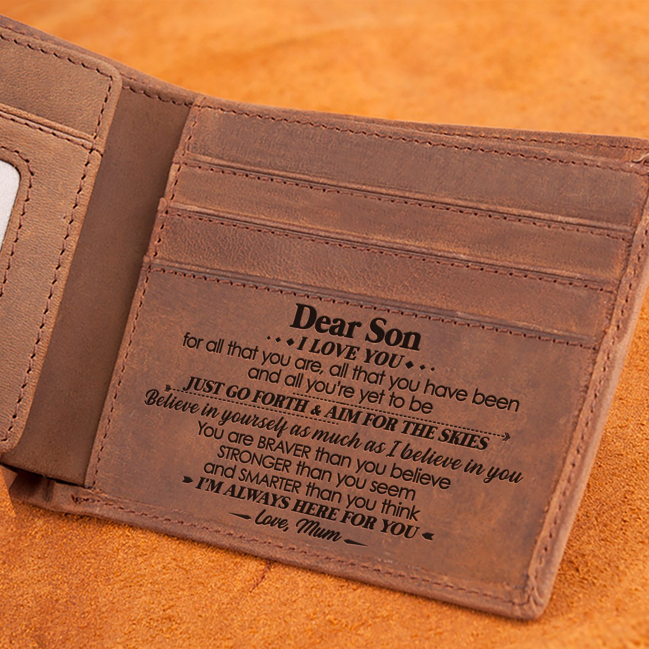 Mum To Son - I'm Always Here For You - Bifold Wallet