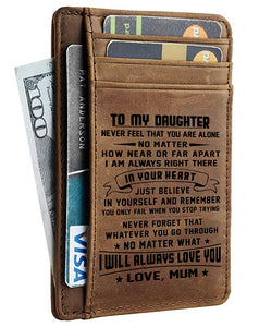 Card Wallet - Daughter, Mum Will Always Love You