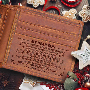 Dad To Son - That You Will Never Lose - Bifold Wallet