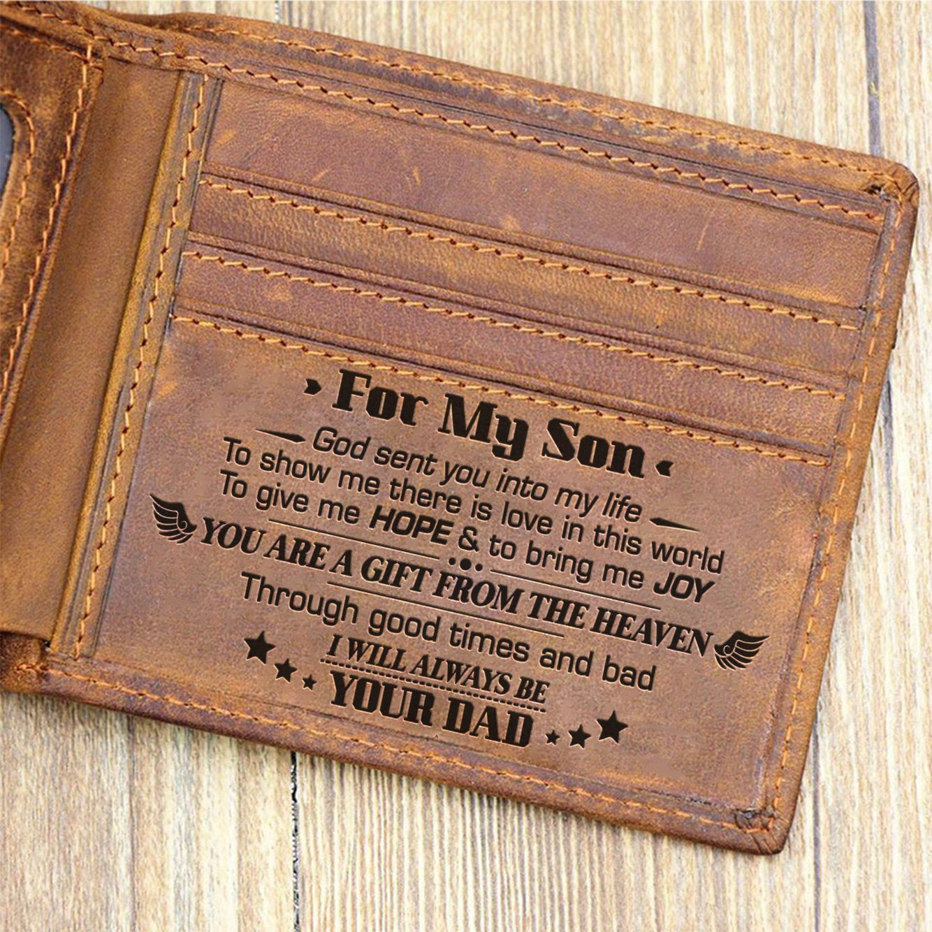 Dad To Son - I Will Always Be Your Dad - Bifold Wallet