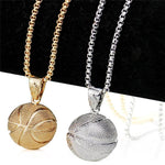 Basketball Necklace Silver Gold Sport Basketball Necklaces Pendant Sports  - BKB Necklace