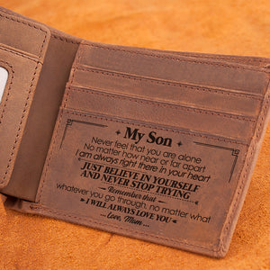 Mom To Son - I Will Always Love You - Bifold Wallet