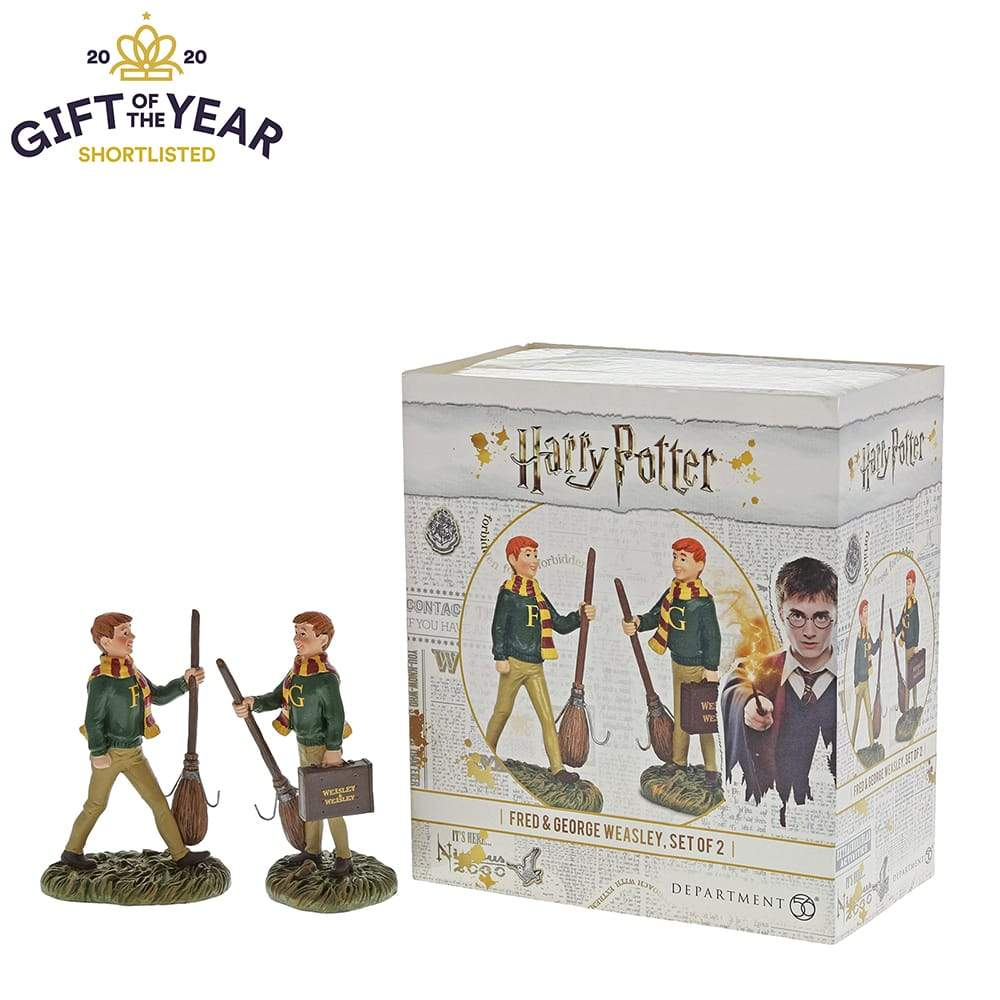 Fred and George Weasley Figurine -Harry Potter Village by D56