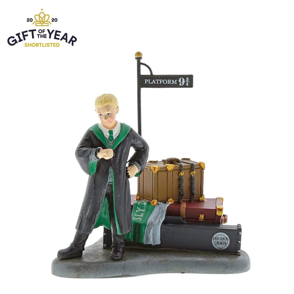 Harry Potter Village Draco Malfoy Waits at Platform 9 3/4 Figurine