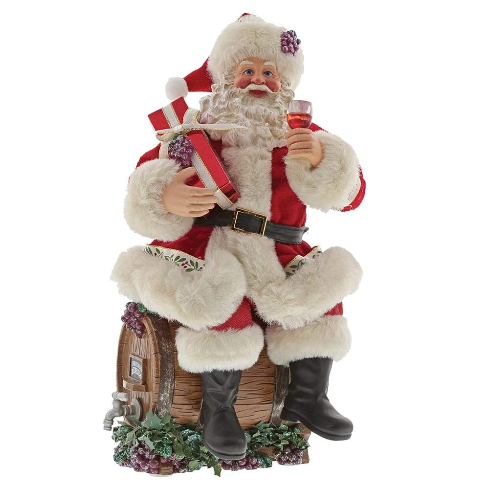 Barrel Tasting Santa Figurine - Possible Dreams by D56