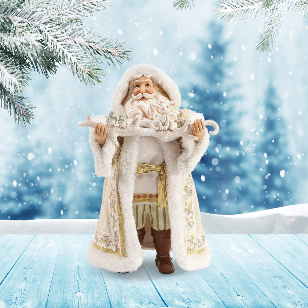 Jim Shore by Possible Dreams Winter White Woodland Santa 2019 Limited Edition