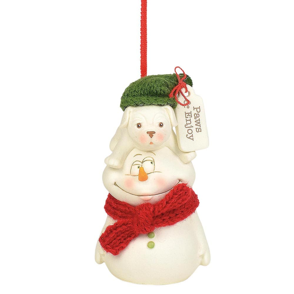 Paws and Enjoy Hanging Ornament - Snowpinions by D56
