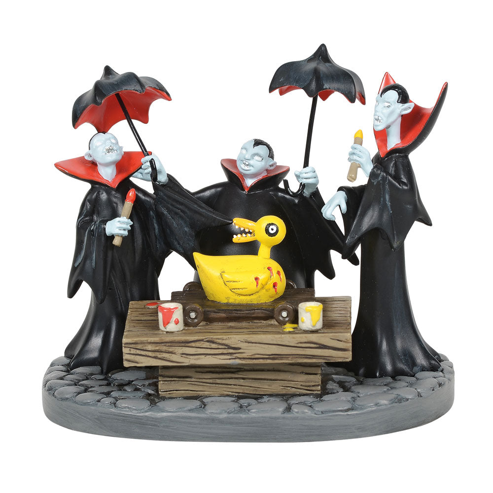The Nightmare Before Christmas Village by D56 Vampire Brothers Prepare the DuckFigurine