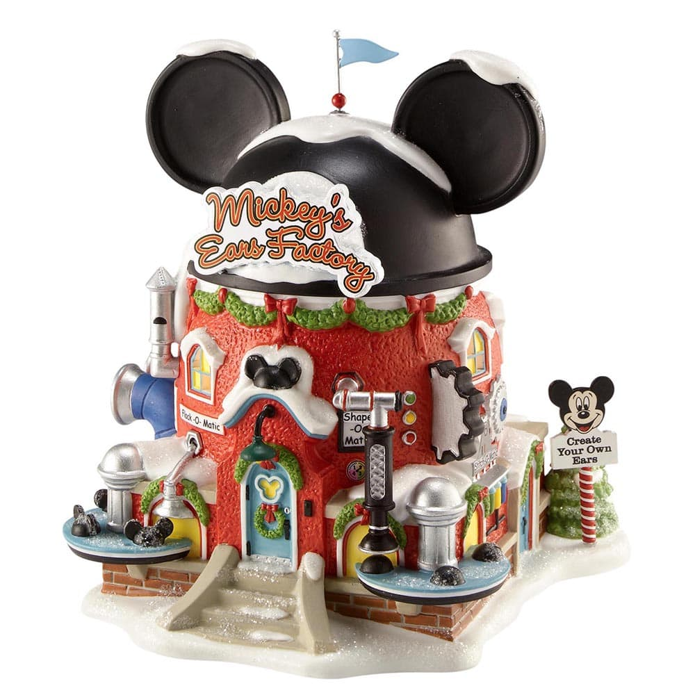 Mickey's Ears Factory Model Building - North Pole Series by D56 (EU Adaptor)
