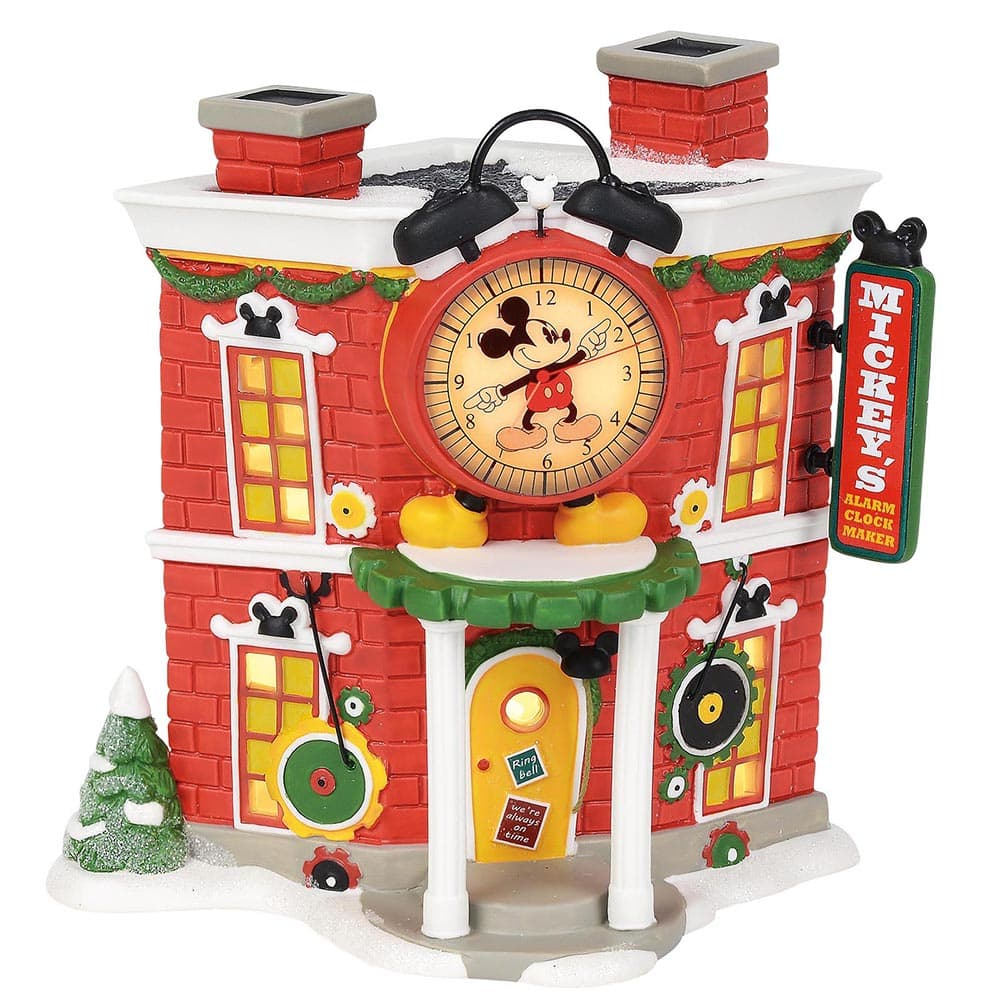 Mickey's Alarm Clock Shop Model Building - Disney Village by D56