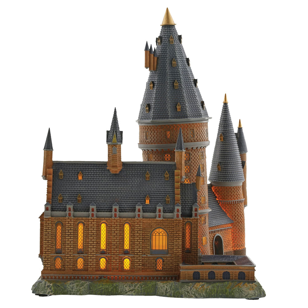 Hogwarts Great Hall and Tower Model Building - Harry Potter Village by D56