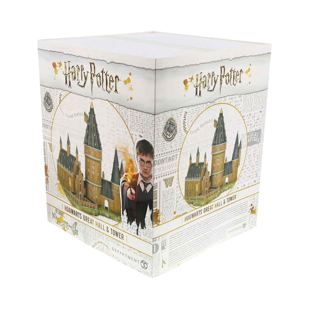Hogwarts Great Hall and Tower Illuminated Model Building- Harry Potter Village by D56