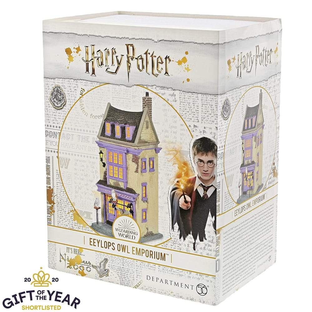 Eeylops Owl Emporium Illuminated Model Building- Harry Potter Village by D56 (EU Adaptor)