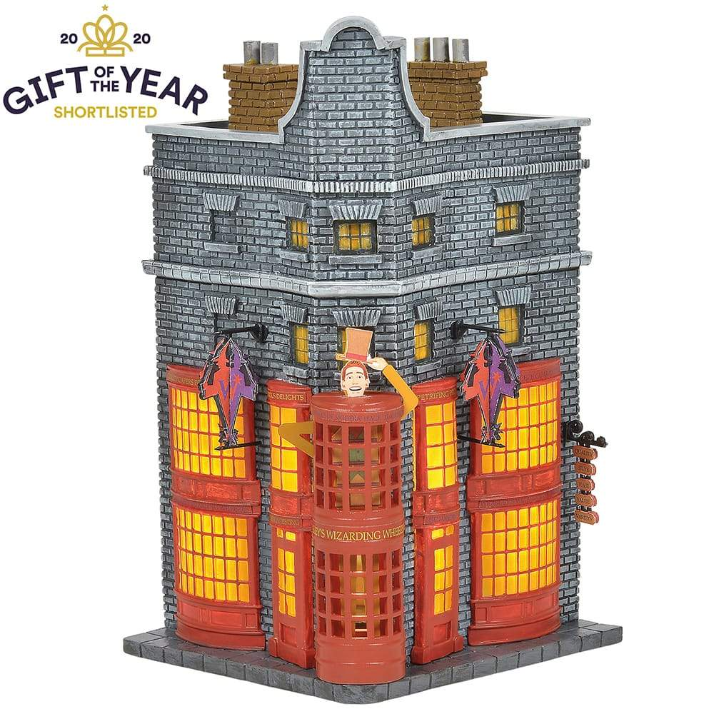 Weasleys' Wizard Wheezes Illuminated Model Building- Harry Potter Village by D56