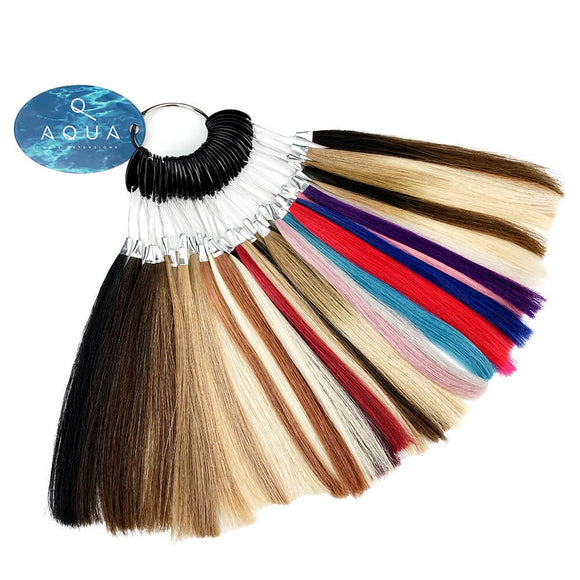 Aqua Hair Extensions Color Swatch Ring