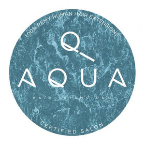 Aqua Hair Extensions Window Cling