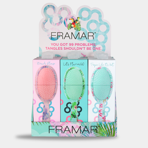 Framar Detangle Brush Tropic Vibes Display