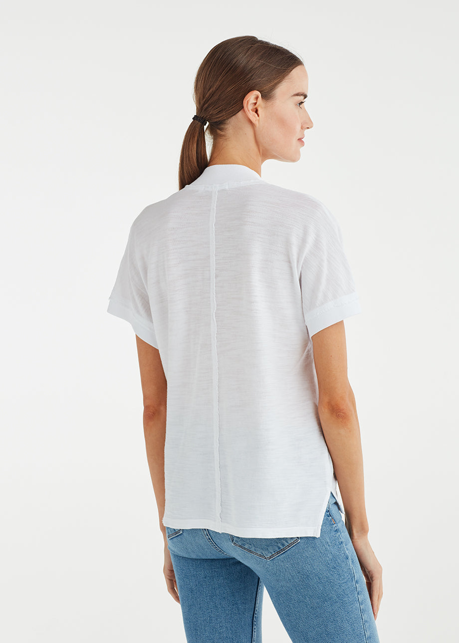 V-NECK DROP SHOULDER TEE