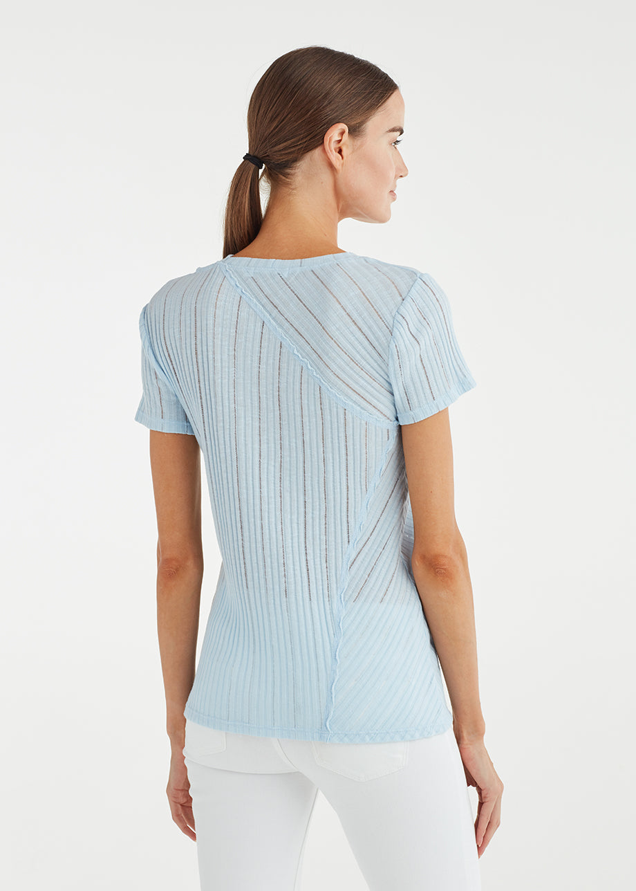 DIRECTIONAL RIB CUT OUT TEE
