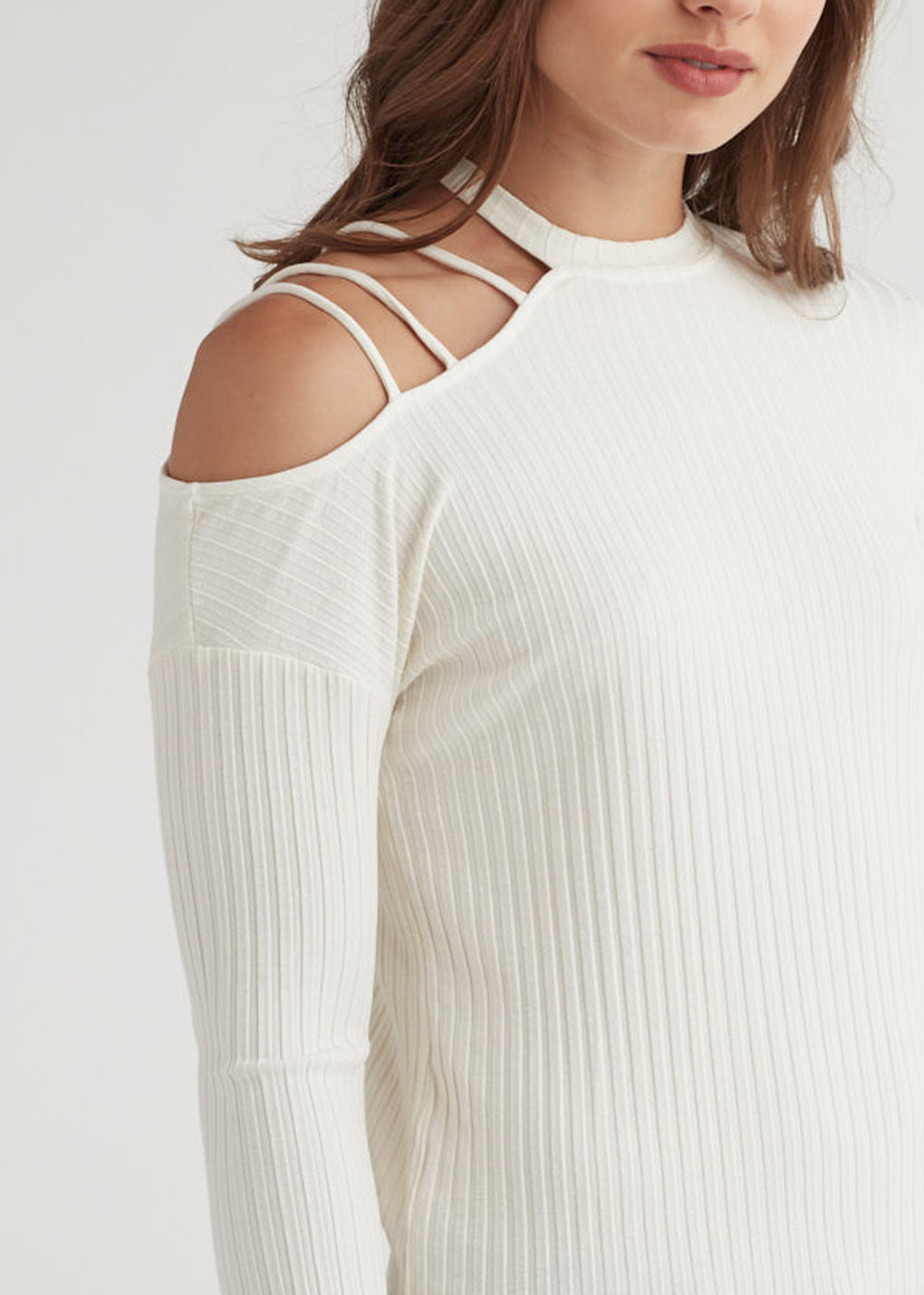 ASYM STRAP SHOULDER TOP